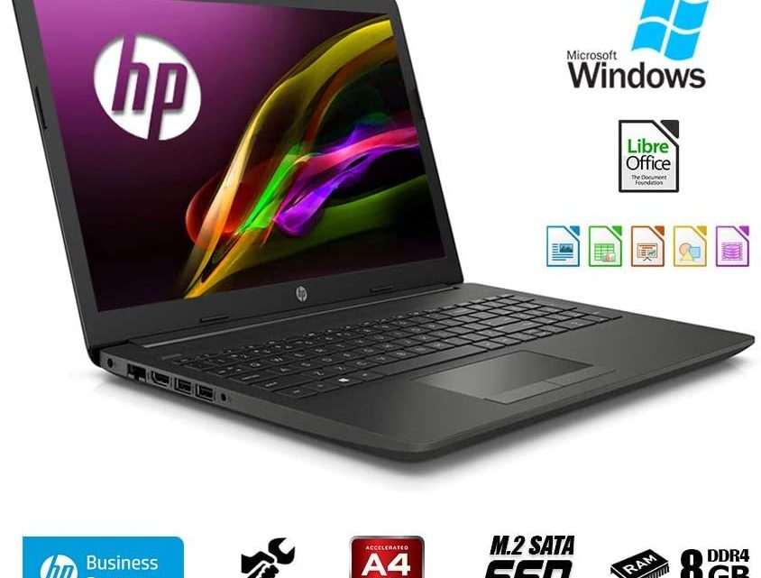 HP 255 G7 15.6 Hd Laptop Amd a4 9125 2.30 GHz,8GB Ram,SSD M.2 256GB,Windows 10 Professional,Bluetooth,Italian QWERTY Keyboard