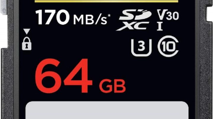 SanDisk Extreme PRO 64GB SDXC Memory Card up to 170MB/s, Class 10, U3, V30
