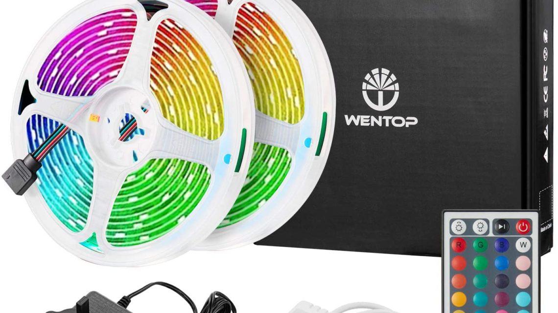 WenTop Led Strips Lights Kit 10M(32.8Ft) with Remote 300leds SMD 5050 Multi-Color 12V Led Strip Lights