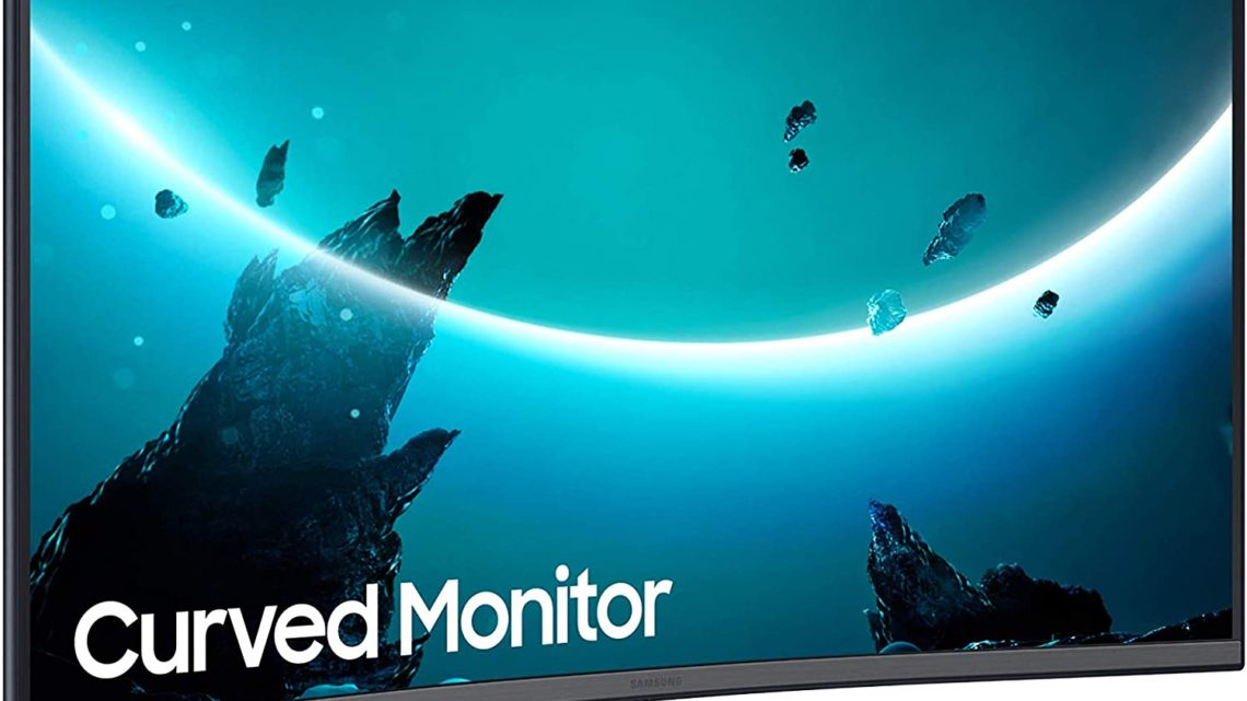 Samsung T55 Curved Monitor, 24 Inch, 1000R, 75hz, 4ms, 1080p